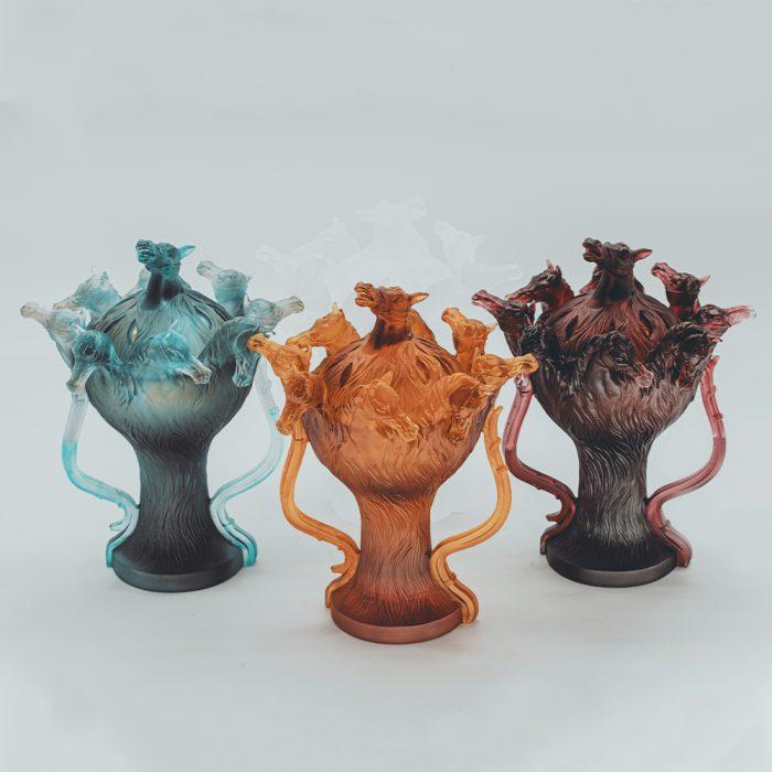 Bukhoor Crystal Burner Horse Design in 4 Different Colors